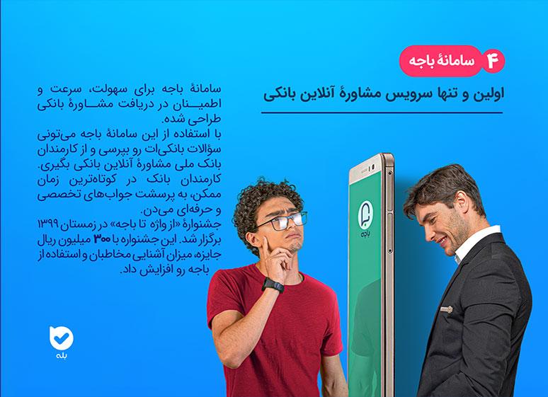 سامانه باجه، اولین و تنها سرویس مشاوره آنلاین بانکی
